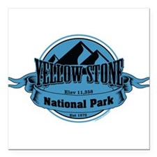 """yellowstone 5 Square Car Magnet 3"""" x 3"""""""