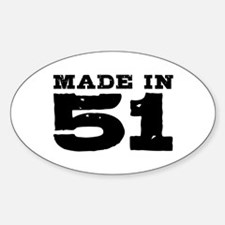 Made In 51 Sticker (Oval)