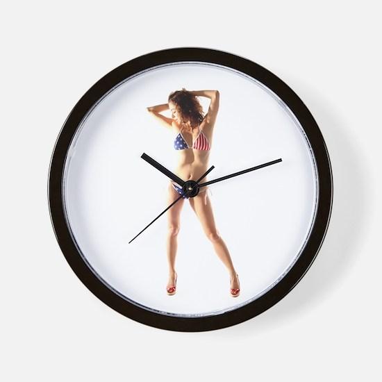 USA Girl Wall Clock