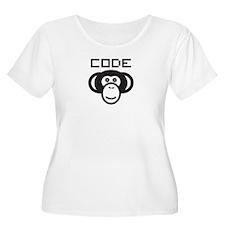 Code Monkey Plus Size T-Shirt
