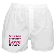 Nurses do it with love & care. Boxer Shorts