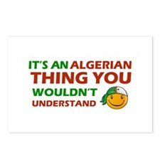 Algerian smiley designs Postcards (Package of 8)