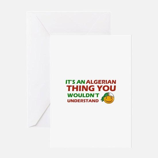 Algerian smiley designs Greeting Card