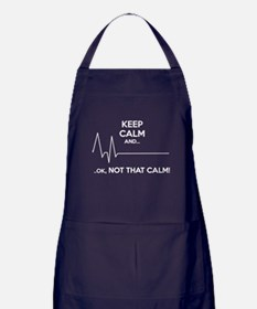 Keep calm and... Ok, not that calm! Apron (dark)