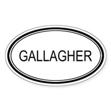 Gallagher Oval Design Oval Decal