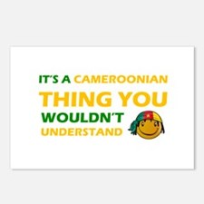 Cameroonian smiley designs Postcards (Package of 8