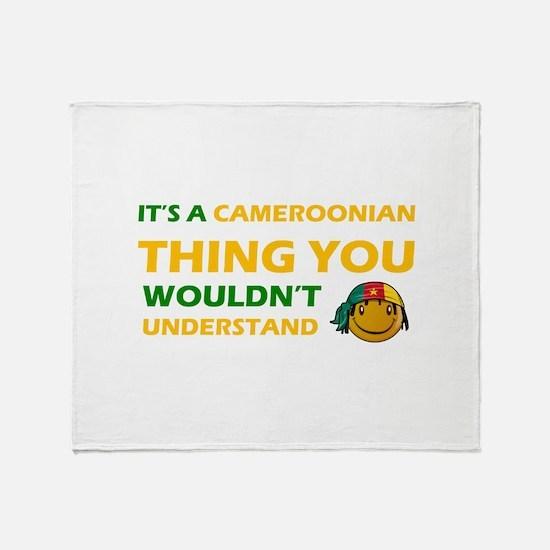 Cameroonian smiley designs Throw Blanket