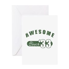 Awesome Since 1933 Greeting Card