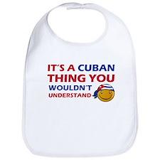 Cuban smiley designs Bib