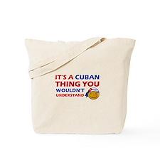 Cuban smiley designs Tote Bag