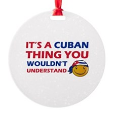 Cuban smiley designs Ornament