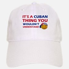 Cuban smiley designs Baseball Baseball Cap
