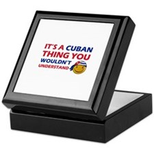 Cuban smiley designs Keepsake Box