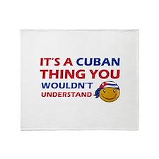 Cuban smiley designs Throw Blanket