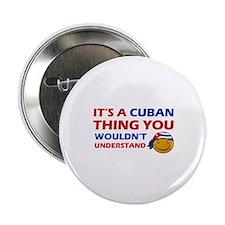 """Cuban smiley designs 2.25"""" Button"""