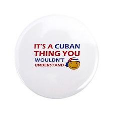 """Cuban smiley designs 3.5"""" Button"""
