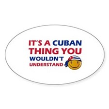 Cuban smiley designs Decal