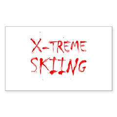 X-treme Skiing Rectangle Decal