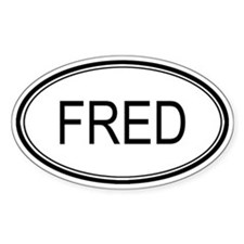 Fred Oval Design Oval Stickers