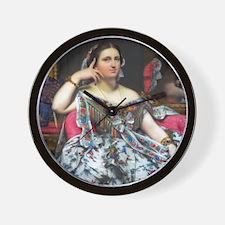 Ingres: Mme. Moitessier Wall Clock