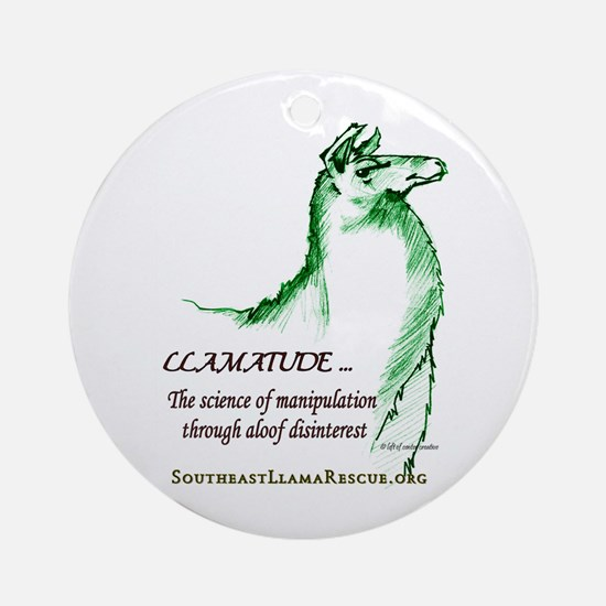 Llamatude Green Ornament (Round)