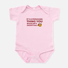 Peruvian smiley designs Infant Bodysuit