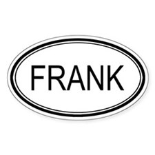 Frank Oval Design Oval Decal