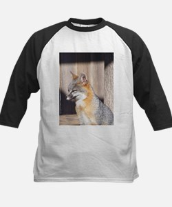 Sleepy Gray Fox Baseball Jersey