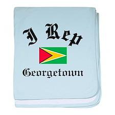 I rep Georgetown baby blanket