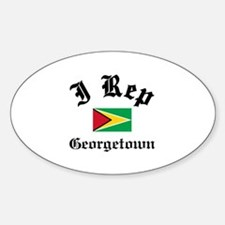 I rep Georgetown Decal