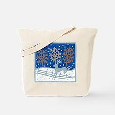 Snowy Reindeer Tote Bag