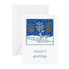 Snowy Reindeer Greeting Cards (Pk of 10)