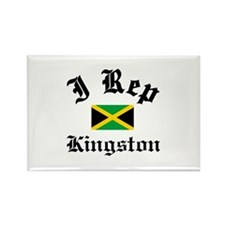 I rep Kingston Rectangle Magnet