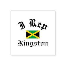 "I rep Kingston Square Sticker 3"" x 3"""