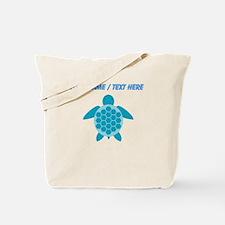Custom Blue Sea Turtle Tote Bag