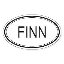 Finn Oval Design Oval Decal