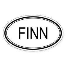 Finn Oval Design Oval Decal
