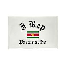 I rep Paramaribo Rectangle Magnet