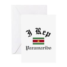 I rep Paramaribo Greeting Card