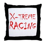Extreme Racing Throw Pillow