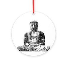 Retro Buddha Ornament (Round)
