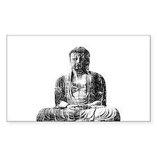 Retro Buddha Rectangle Decal