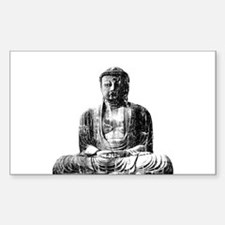 Retro Buddha Rectangle Decal