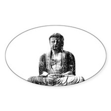 Retro Buddha Oval Decal