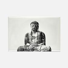 Retro Buddha Rectangle Magnet