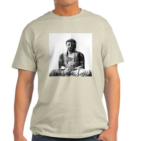 Retro Buddha Ash Grey T-Shirt