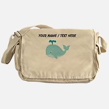 Custom Blue Cartoon Whale Messenger Bag