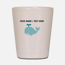 Custom Blue Cartoon Whale Shot Glass