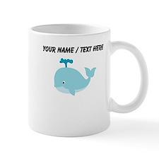 Custom Blue Cartoon Whale Mug