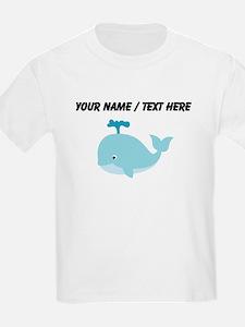 Custom Blue Cartoon Whale T-Shirt